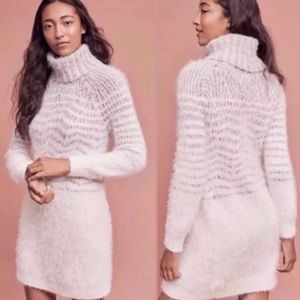 Anthropologie Sleeping on snow sweater dress